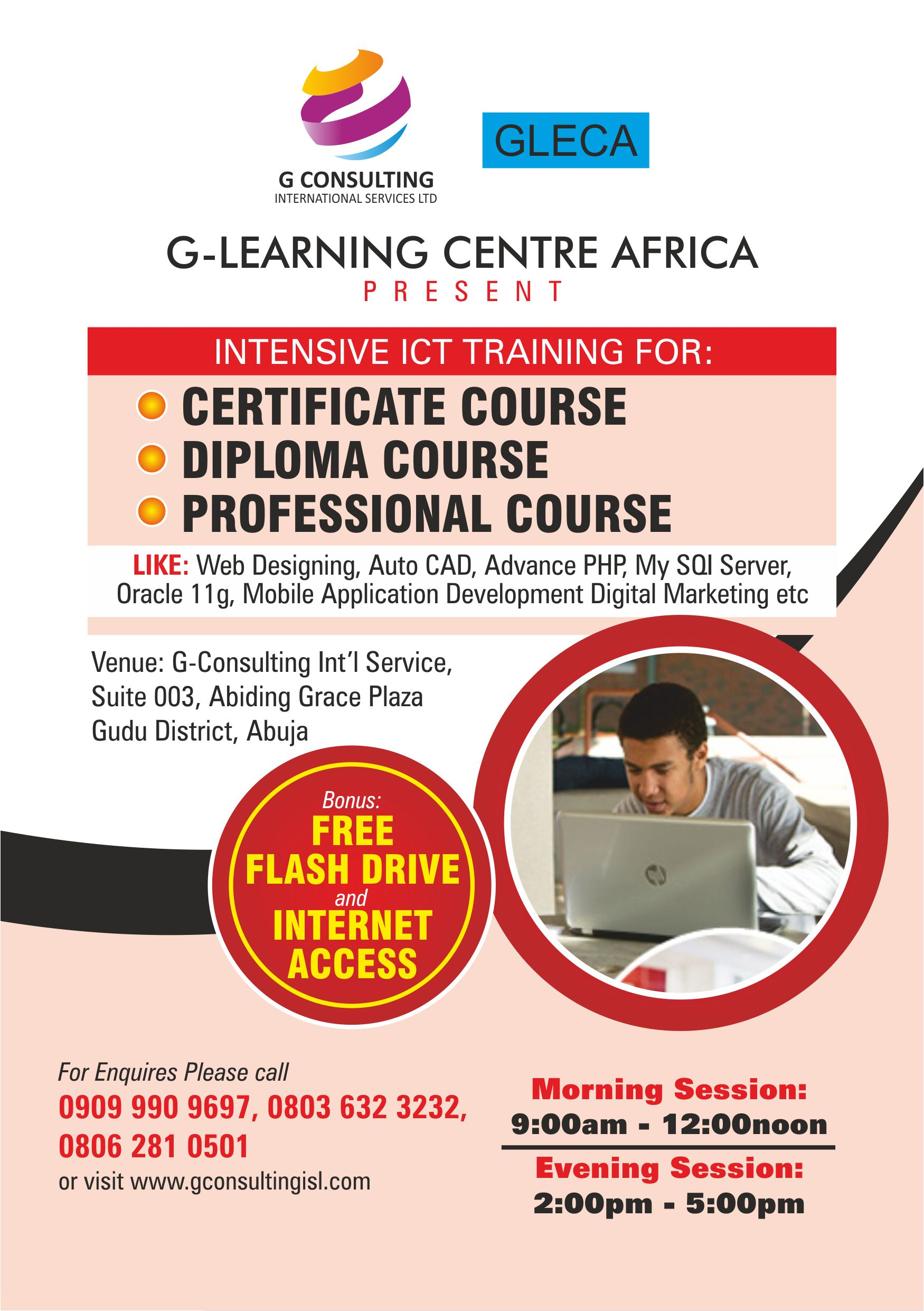 learn more on ict diploma and professional courses today g  learn more on ict diploma and professional courses today g learning centre africa