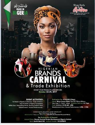 MSME 2017 PARTNERING WITH NIGERIAN BRANDS CARNIVAL & TRADES EXHIBITIONS