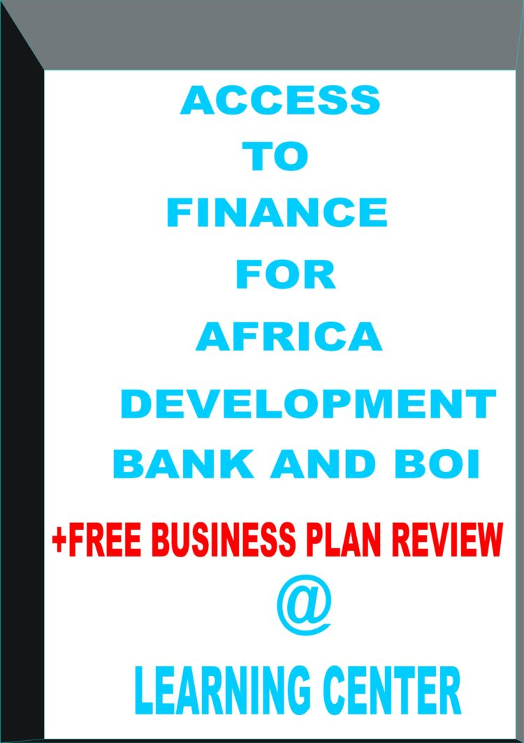 JOIN US FOR THE TRAINING ON ACCESS TO FINANCE FOR AFRICAN DEVELOPMENT BANKS AND BOI